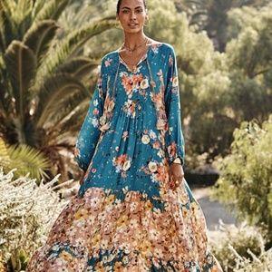Johnny Was Panelope Dress Floral Maxi Boho AMAZING